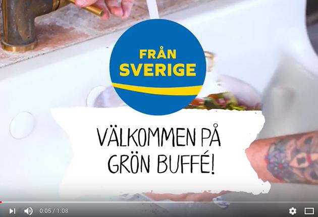 Grön buffé med Från Sverige – film