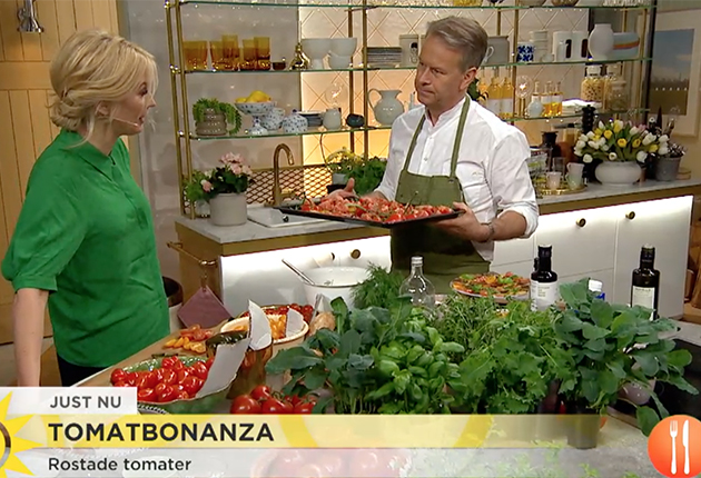 Tomatfrossa med Fredrik Eriksson, Nyhetsmorgon
