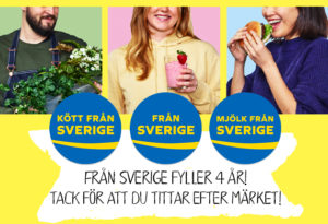 Från Sverige-märkningen 4 år