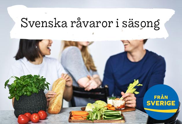 Svenska grönsaker, frukter och bär i säsong