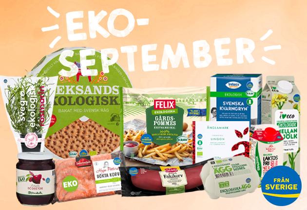 Välj svenskt ekologiskt under EKO-september