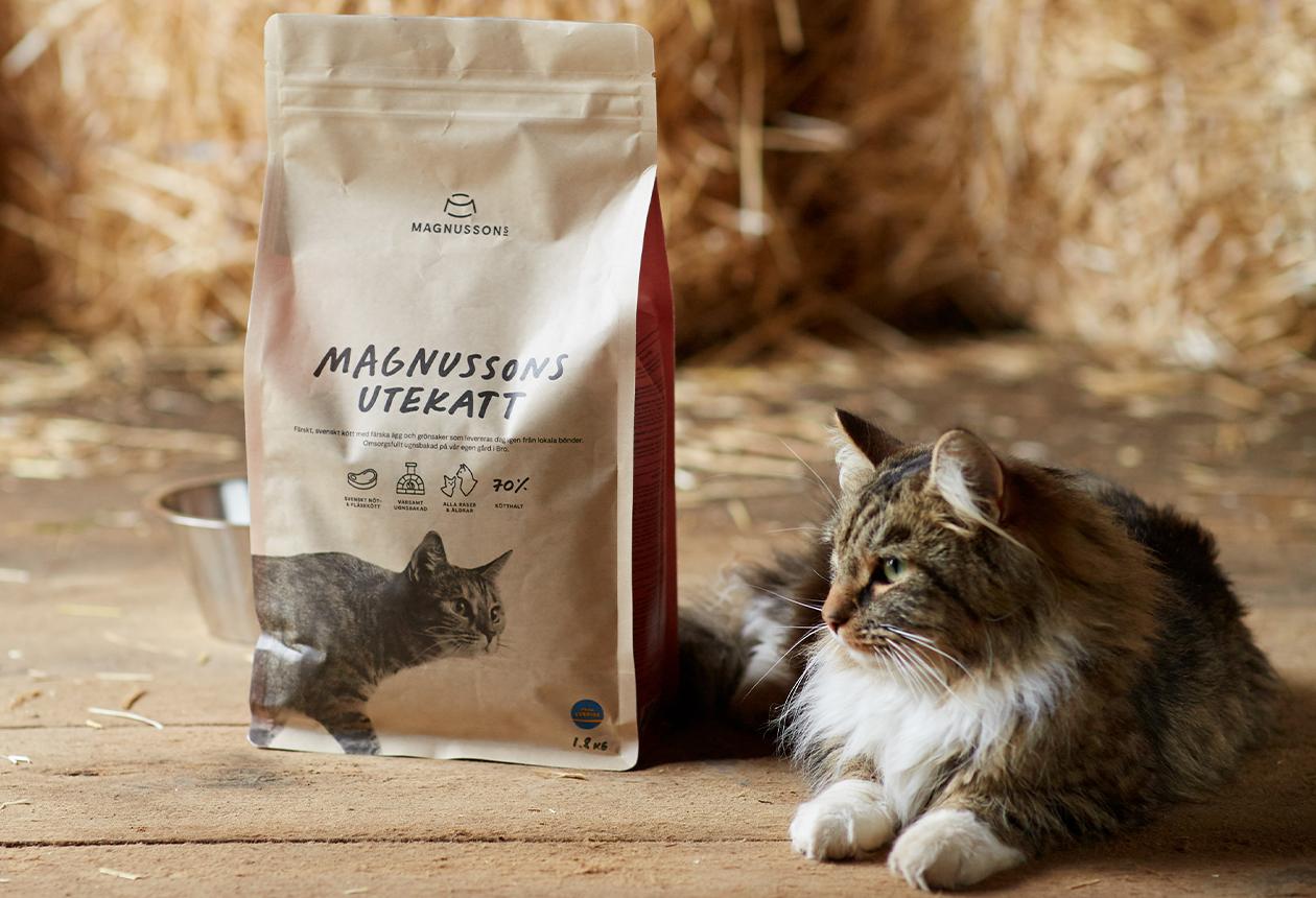 Första kattmaten märkt med Från Sverige är här
