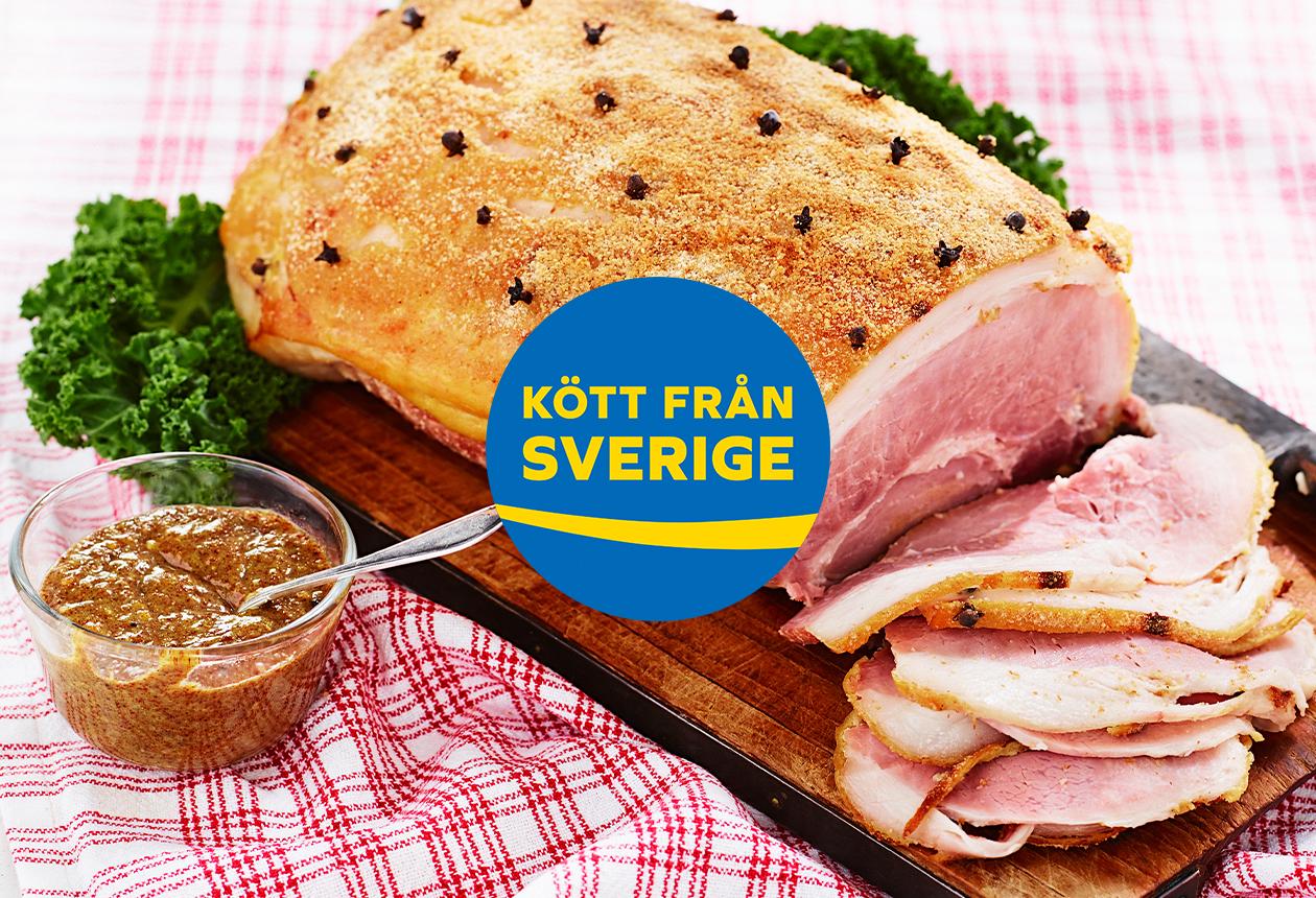 Viktigast med julskinkan är att den är svensk