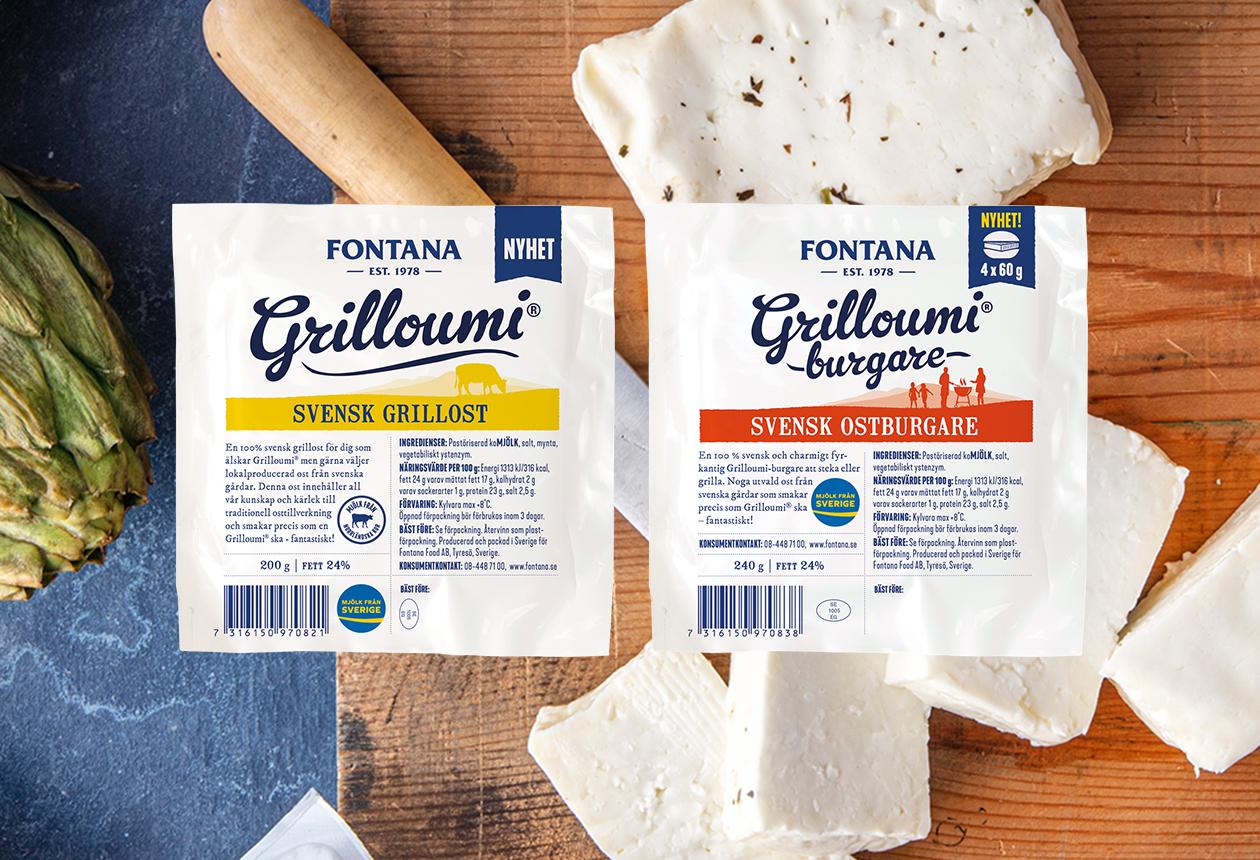 Fontana lanserar grillost av norrländsk mjölk