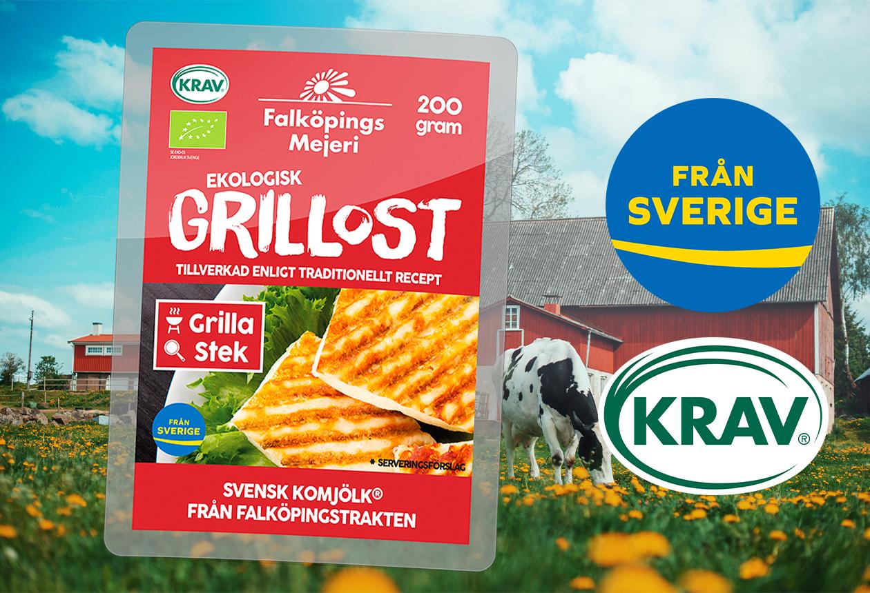 Svensk och ekologisk grillost från Falköpings Mejeri