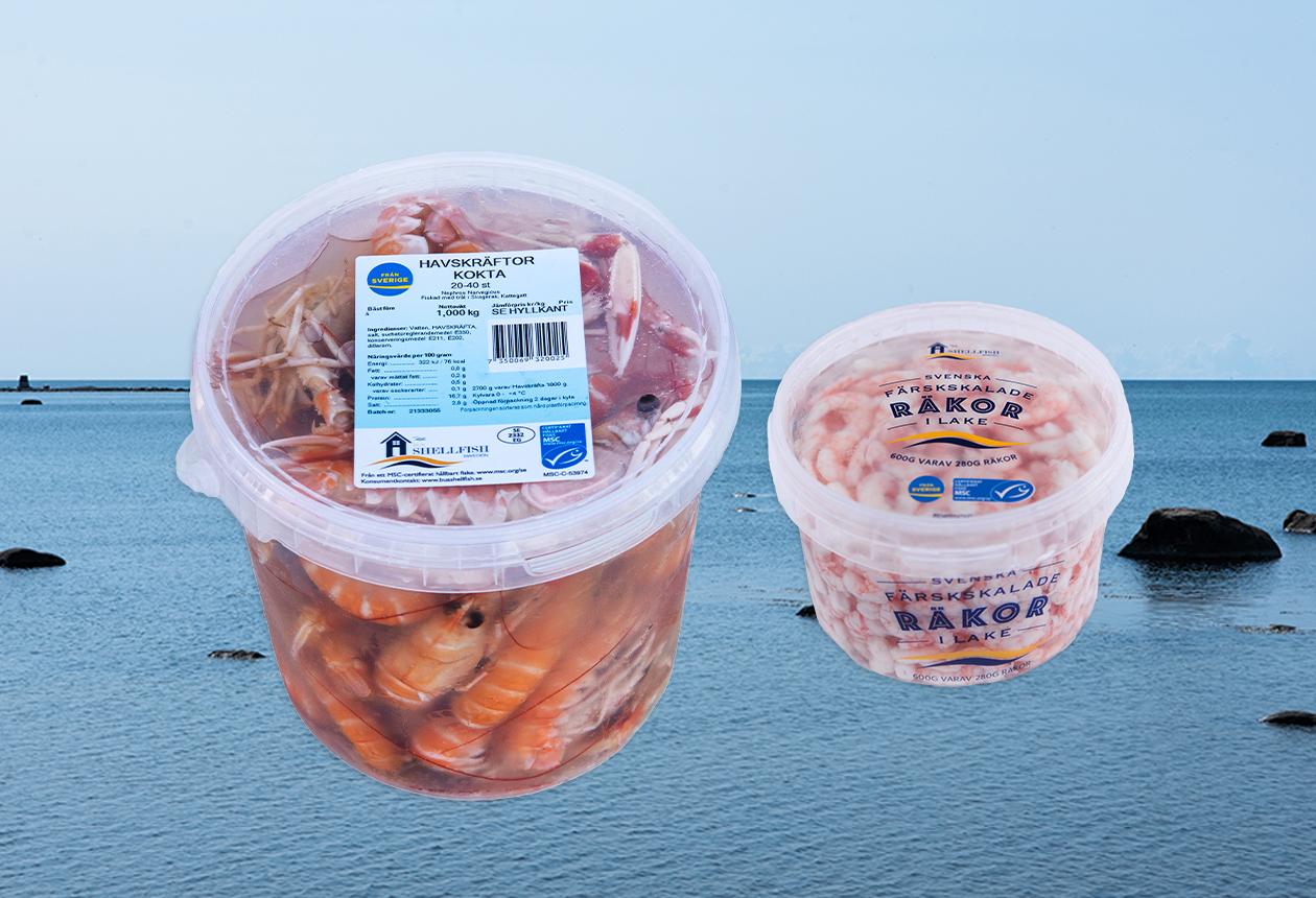 bua shellfish produkter