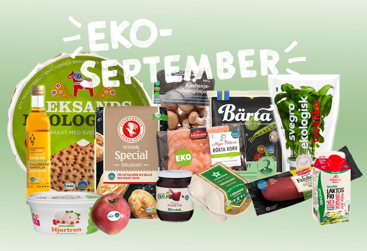 Välj Från Sverige-märkt eko under EKO-september